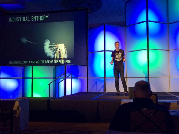 "Chris DeVore of Founders Co-Op now up: ""Industrial Entropy & the Future of Work"" #defragcon http://t.co/WDNoWVMnu9"