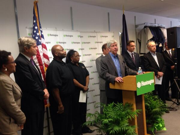 Gov. Rick Snyder at Pure Michigan Micro Lending event