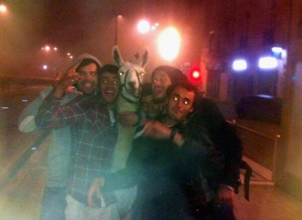 Detenidos cinco estudiantes franceses por robar una llama de un circo y llevársela de fiesta http://t.co/ZNQ9RtM58n http://t.co/7X8XdCs2pL