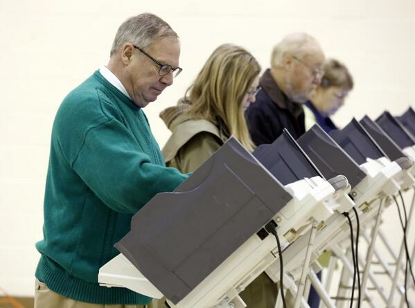 Mayoral candidate @Collins_Cares13 votes in South #Toledo. #ToledoVotes13 http://t.co/jOuUv4zbdi