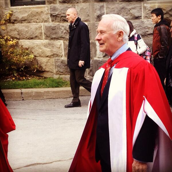 His Excellency, the Right Honorable @GGDavidJohnston was present today at @McGillU ! #McGill http://t.co/s3g1ESFPPW