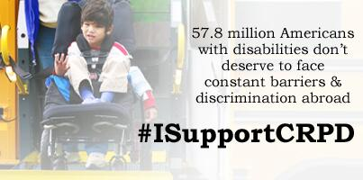 Let's end discrimination against disabled Americans abroad by passing the #DisabilityTreaty! #ISupportCRPD http://t.co/vopFGoqU2i