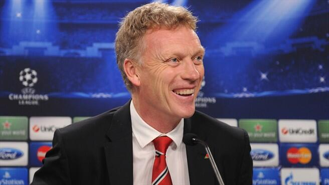Manchester United manager David Moyes speaking to the press ahead of a champions league match