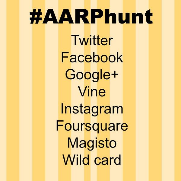 Get ready. The #AARPsocial crew is about to try a social scavenger hunt. Follow #AARPhunt! http://t.co/Nopt8oNCof