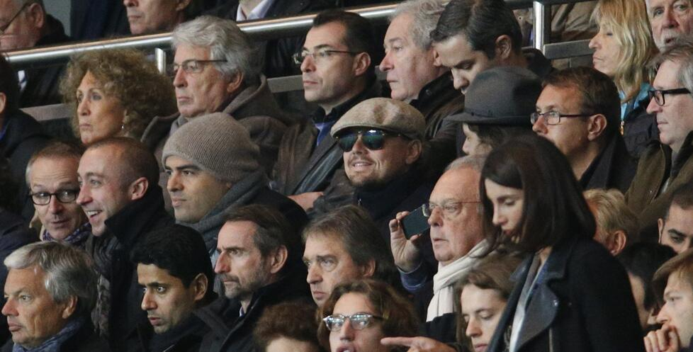 Leonardo Di Caprio pictured at PSG vs Anderletcht football match