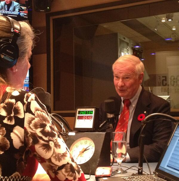 GG of Canada @GGDavidJohnston was in studio to talk abt the inauguration of Fortier at @McGillU. Tune in at 3:40! http://t.co/KEtMxkS3IV
