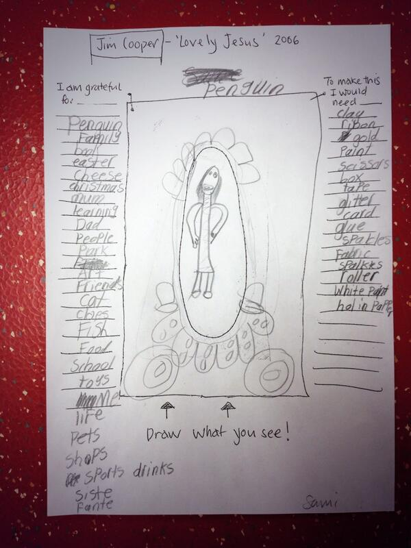 First they sketched the work and made their own list of things they're grateful for http://t.co/xEHoAFlEx3