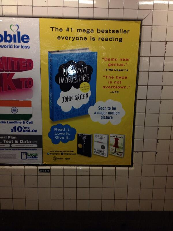 Ok. This is fantastic! John in the subway. @realjohngreen @jsgabel http://t.co/UED1Y7ifzq