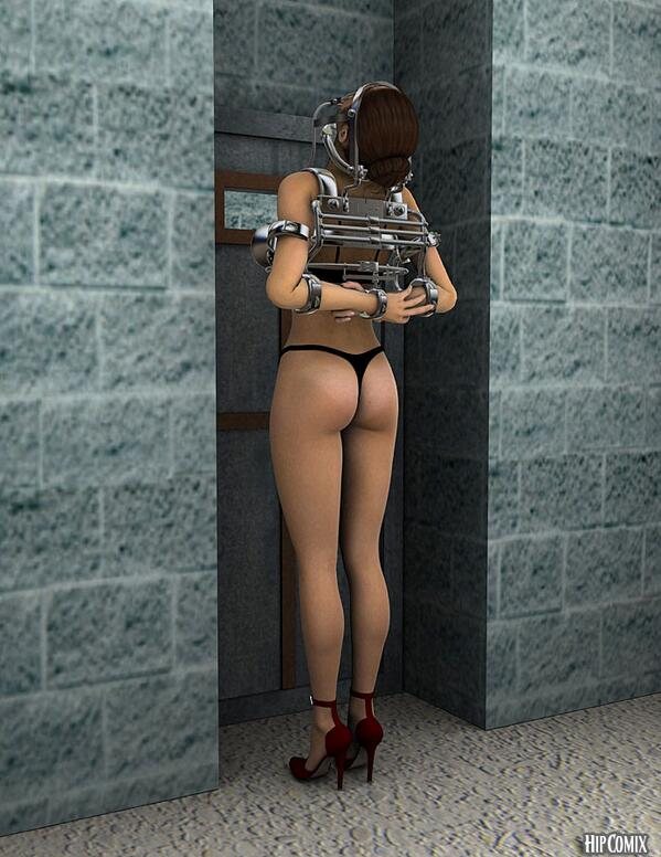 A tied 3d girl starts to get played 1