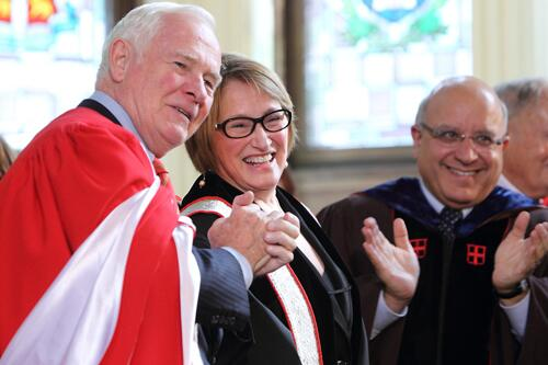 It's official! Suzanne Fortier installed as #McGill's 17th Principal http://t.co/j9OmNywrue http://t.co/x4h4s5NC1k