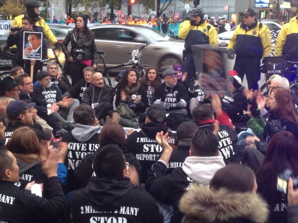 "Be strong. ""@icirr: Crowd is just getting more fired up as arrests start. #ILisReady #TimeIsNow http://t.co/KiupvPxy8B"""
