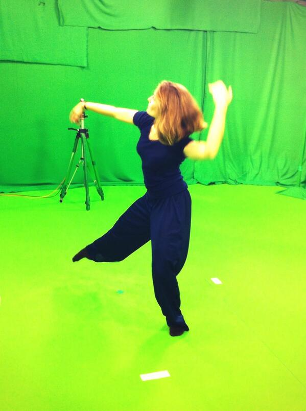 Live virtual performance by @HandMadeDance for #ICT2013eu Vilnius. Dancer being located in #inria #grenoble http://twitter.com/inria_grenoble/status/398397332380987392/photo/1