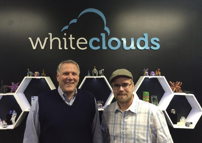 Whiteclouds CEO Jerry Ropelato and Autodesk's Shaan Hurley