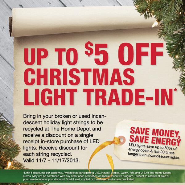 "The Home Depot On Twitter: ""Trade In Your Incandescent"