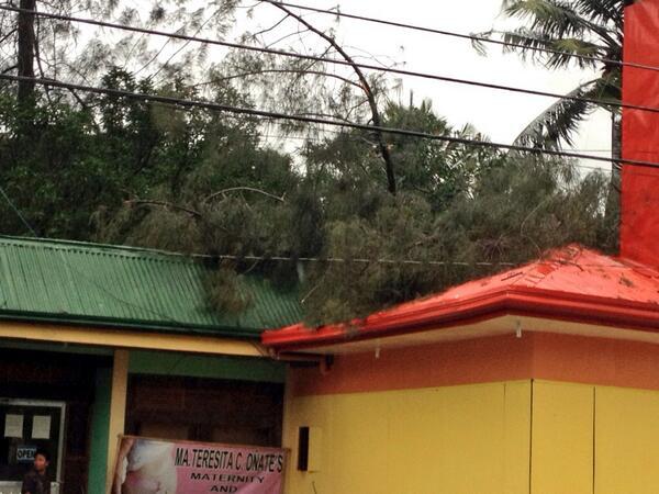 Puno bumagsak sa isang lying-in clinic sa Ubay, Bohol; walang nasaktan. #YolandaPH @dzmmteleradyo http://t.co/8J9tIJM1w8
