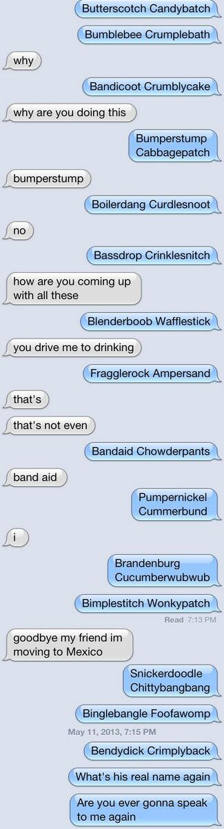 I know it's stupid, but the Benedict Cumberbatch name variation thing... https://t.co/BmOHj9k1zr might be my favorite memething of 2013