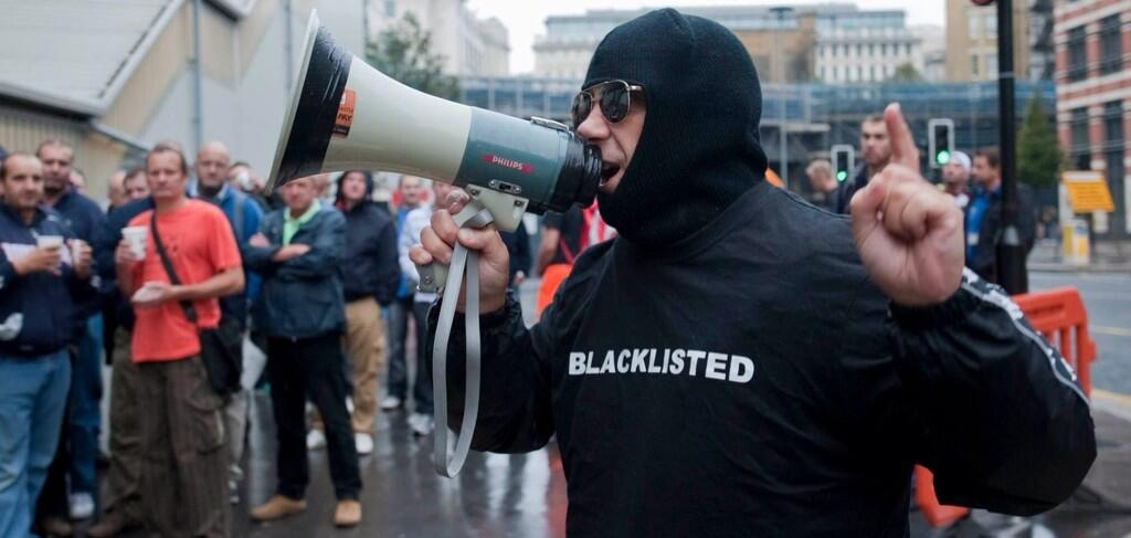 A union member hiding their identity for fear of the blacklist.