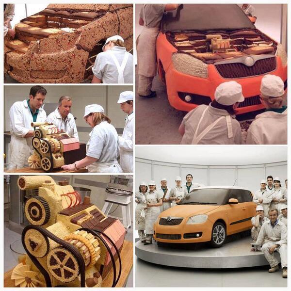 チェコの自動車メーカー「ショコダ」の車ケーキ 。クオリティ高い。