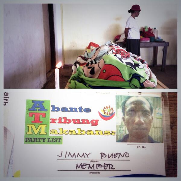 PHOTO: A fisherman in Lingig, Surigao del sur died last night after being electrocuted #yolandaPH http://t.co/1ziMubTmYo |via @HernelTocmo