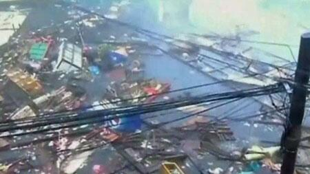 VIDEO: The world's strongest typhoon of the year has slammed into the Philippines. #Haiyan http://t.co/P2iWomoTH6 http://t.co/e3Dws8MDHi