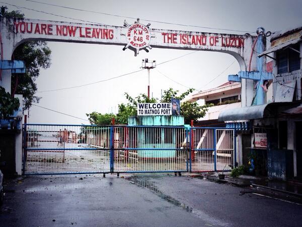 Ang dulo ng Isla ng Luzon sa Matnog Sorsogon. #anlayo #YolandaPH http://t.co/GuG2wwOilo