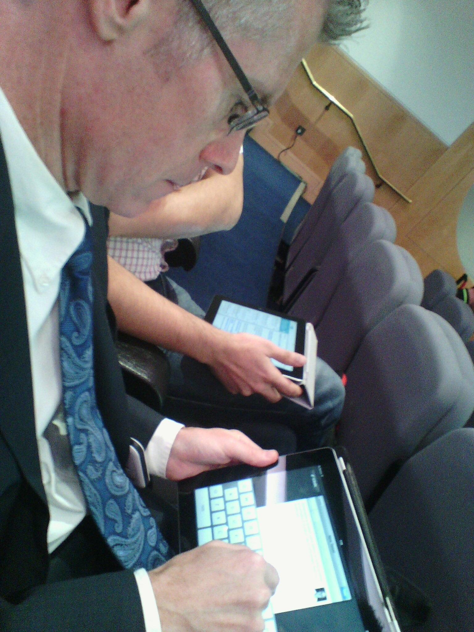 Malcolm campbell on iPad at solo13