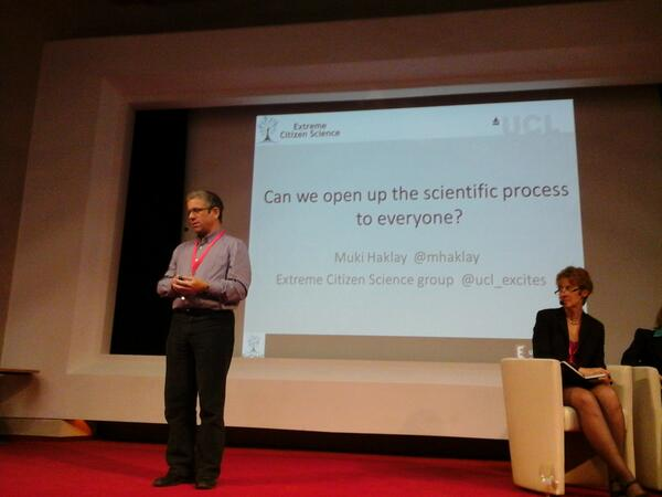 @mhaklay is director of extreme citizen science group at UCL. Lets see if his talk lives up to its promise #ICT2013eu http://t.co/PCEAcHQ522