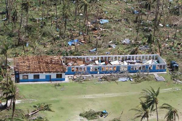 RT @unocha_rop: Major damage to JFK Elementary School on #Kayangel #Palau from #Haiyan  impacting 14 students. http://t.co/qyajPkLodl