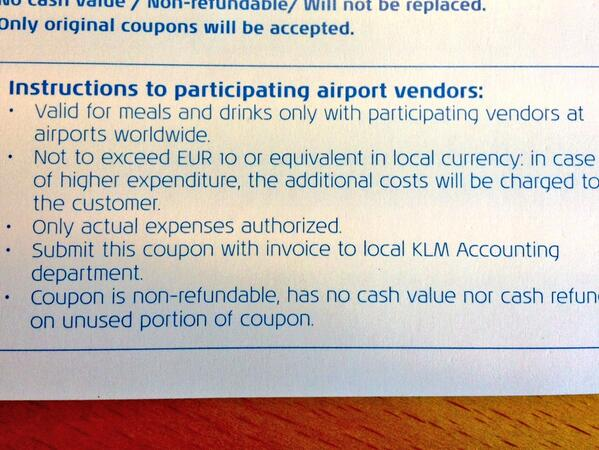 Stuart Mc Bride On Twitter KLM I Have An AMENITY COUPON To Send - Invoice klm