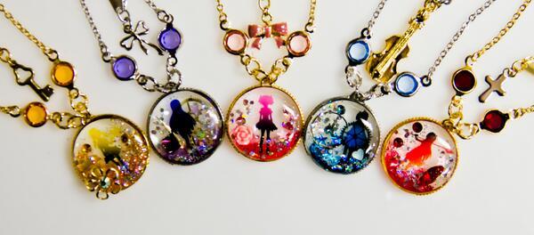 魔法少女まどか☆マギカモチーフアクセサリー、小鳥遊作。 魔法少女全員集合。 madoka_magicapic.twitter.com/FxDaDRKhaV