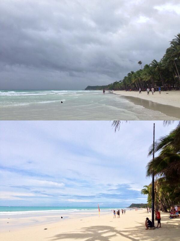 Boracay during and after #YolandaPH #Haiyen seems like nothing happened! http://t.co/mFcbSKu9io