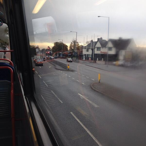 Heading to Wolverhampton (from Sandwell and through Dudley on the 126) to be inspired by people at #makeshift13 http://t.co/QeKjFI6232