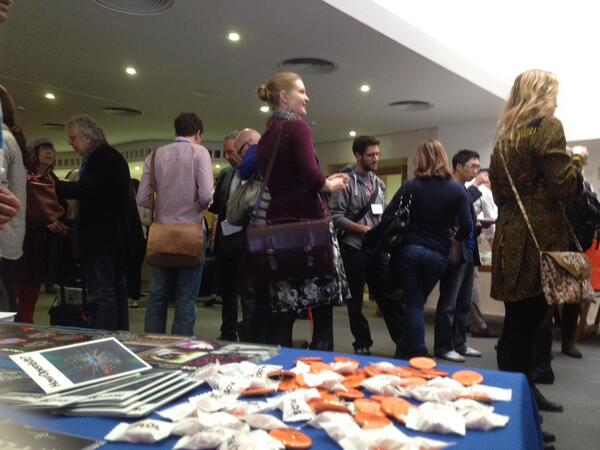 Day 2 of @spotonlondon the @plos table morn coffee. Watch videos day 1 panels #solo13links #solo13stick http://t.co/yIMDD3JhVt