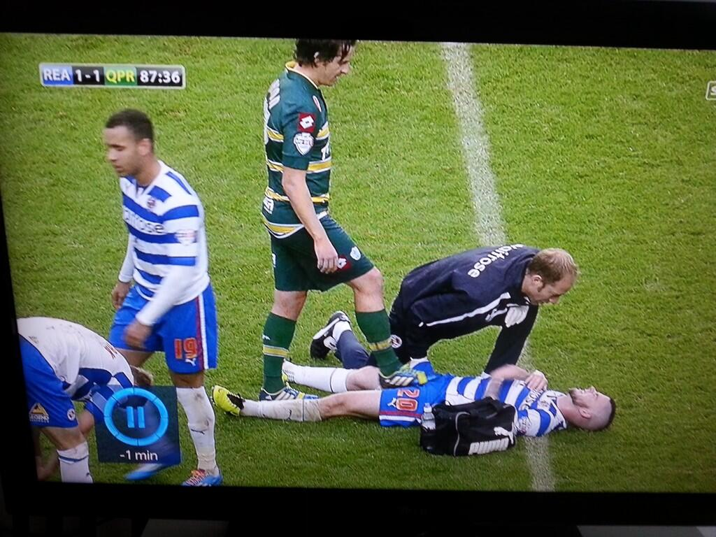 As Danny Guthrie was injured on the floor, Joey Barton stood on his balls and wiggled his boot [Vine Video]