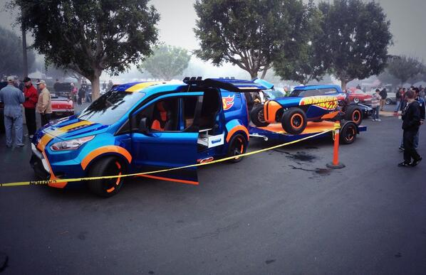 Great start to a Saturday morning with the @Ford Transit Connect Hot Wheels at Cars and Coffee Irvine #FordSEMA http://t.co/iTWChb8dZ4