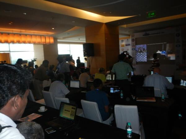 view of media centre where the world #chess championships is taking place #anandcarlsen #wcc2013 http://t.co/UjSjB7VgSn