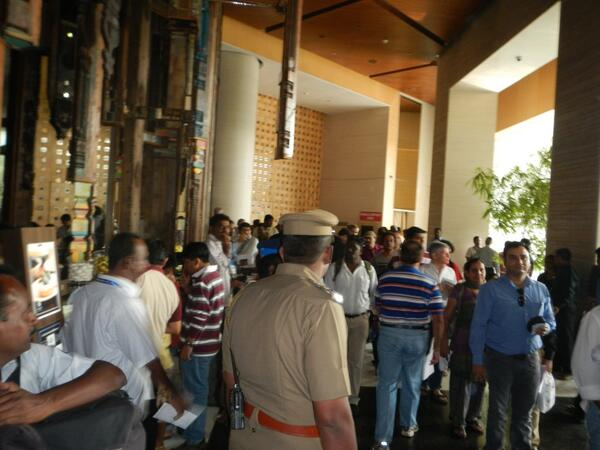 view of fans queuing up at WCC just prior to start of match #anandcarlsen #chess http://t.co/9SQYJ1Oh1Q
