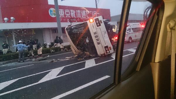 都城農高の野球部のトラックが事故って横転で大惨事になってた。ヤバすぎる。