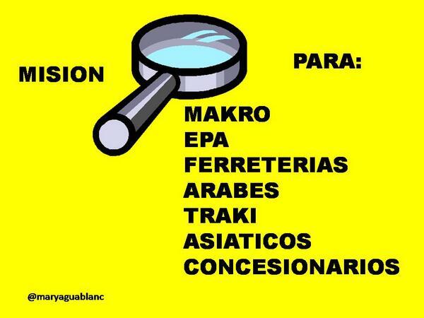 """""""@Maryaguablanc: .@NicolasMaduro  MISIÓN LUPA PARA MAKRO, EPA, TRAKI, NEGOCIOS  ASIÁTICOS, ÁRABES Y OTROS: http://t.co/2HcnhfrbZD"""""""