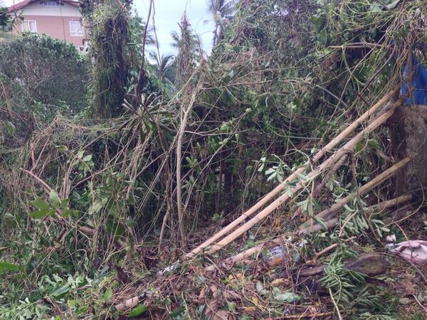 #Boracay #aftermath roads are not visible @ancalerts  #YolandaPH http://t.co/C3uZnQQkCJ