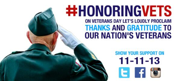 Show your support on Veterans Day and honor those who served our nation in uniform #HonoringVets http://t.co/iS0fOhgJx3