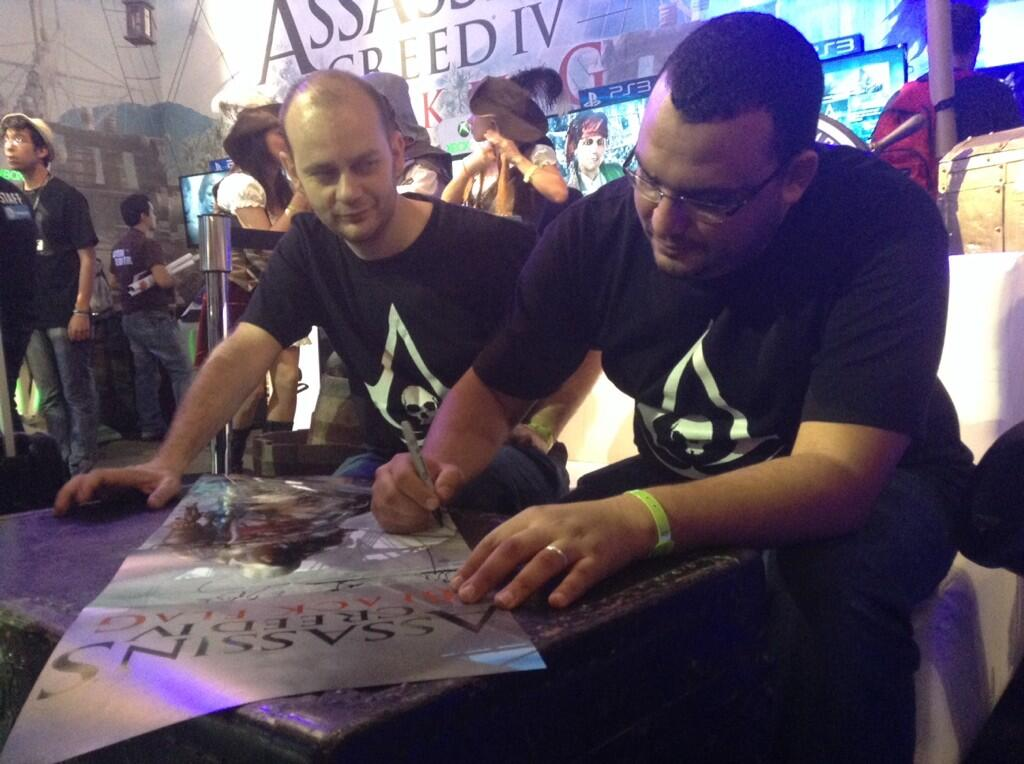 Erich Baptizat y Mustapha Macharach de Assassins CReed Black Flag