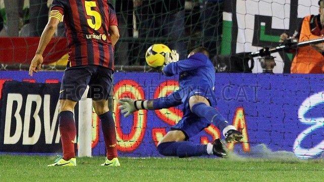 Victor Valdes save v Real Betis compared to Gordon Banks v Pele