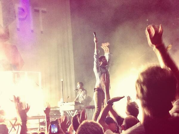 s/o to @shawn_morton for getting me this close to Passion Pit! 🙌 #frontrow #coastline http://t.co/ZKpdA4hxMG
