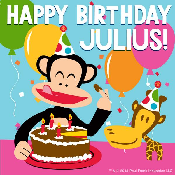 Paul Frank On Twitter SURPRISE HAPPY BIRTHDAY JULIUS RT To Celebrate HappyBirthdayJulius Tco FxqP7JgdhE