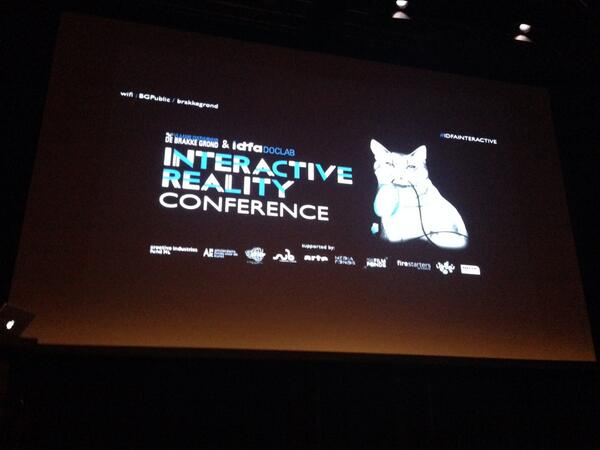 About to go on at #idfainteractive's Interactive Reality conference among an intimidatingly awesome lineup. http://t.co/tpfOrD8pgd