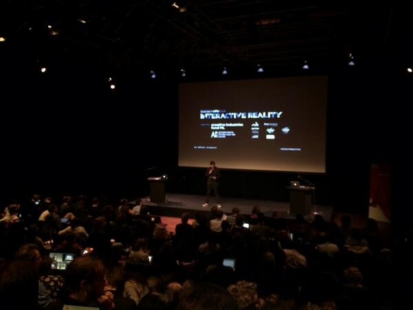 Kickoff interactive reality conference met _docubase project van MIT. #idfainteractive http://t.co/GsNCIlTqVq