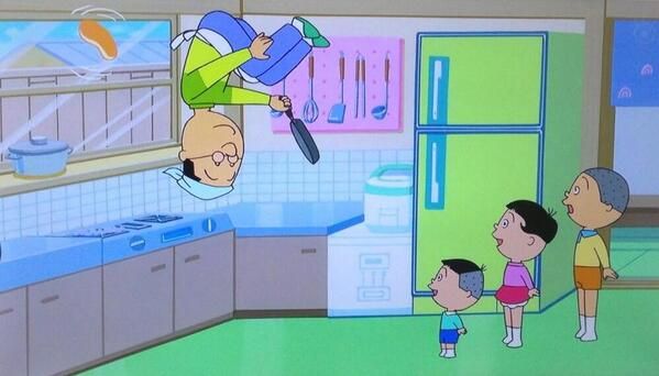 マスオの跳躍、サザエさん