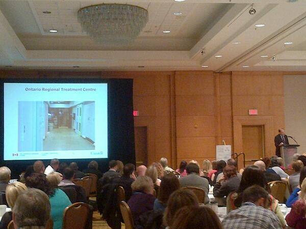 PHOTO: Sapers is talking about his visit to the Ontario Regional Treatment Centre #HSJCC2013 #mentalhealth http://t.co/7t7g3S0OXM