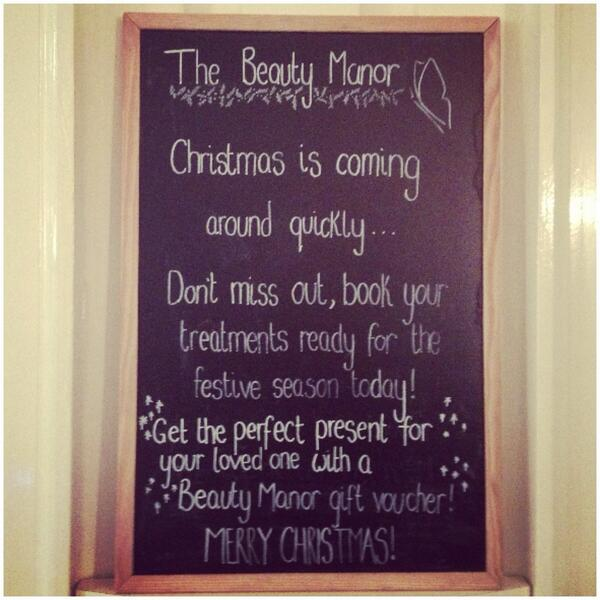 Christmas Beauty Appointments.The Beauty Manor On Twitter Merry Christmas From Us All At